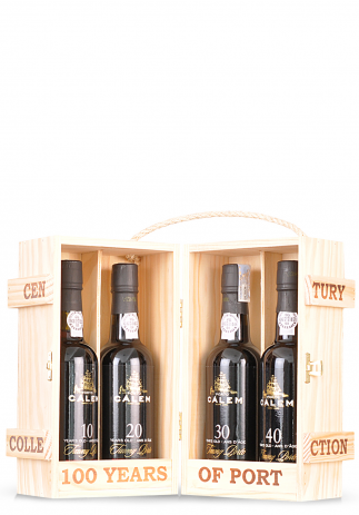 Vin Calem Century Collection, Porto 10 Years, 20 Years, 30 Years & 40 Years (4 x 0.375L)