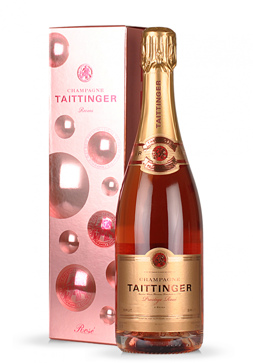 Champagne taittinger brut prestige rose for What is rose champagne