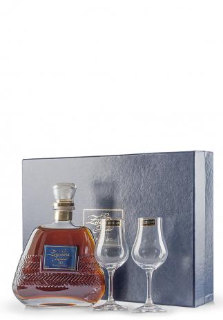 Rom Zacapa 30 Ani, Editie Aniversara + 2 pahare cognac Riedel (0.7L)