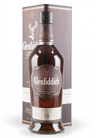 Whisky Glenfiddich Aged 18 Years, Small Batch Reserve, Single Malt Scotch Whisky (0.7L)