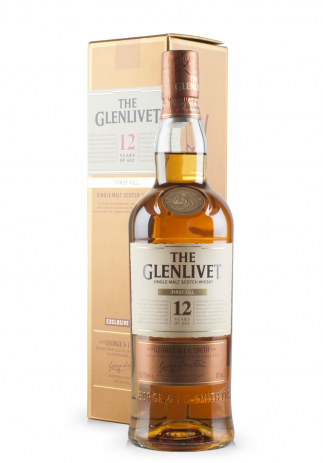 Whisky The Glenlivet 12 ani First Fill, Single Malt Scotch Whisky (0.7L)