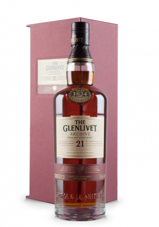 Whisky The Glenlivet 21 ani, Archive Single Malt Scotch Whisky + Cutie Cadou (0.7L)