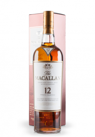 Whisky The Macallan, Highland Single Malt Scotch Whisky, 12 Years Old, Exclusively matured in selected sherry oak casks from Jerez, Spain (0.7L)