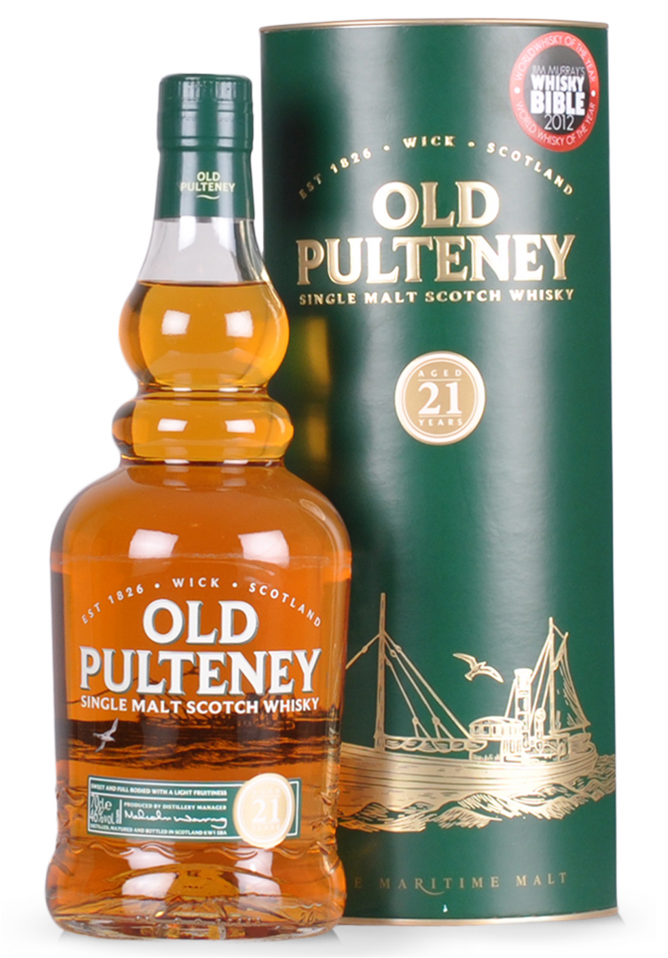 Whisky Old Pulteney, Single Malt Scotch 21 ani, (0.7L)