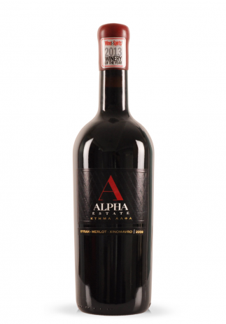 Vin Alpha Estate Red, (Syrah, Merlot, Xinomavro), 2009 (1.5L)