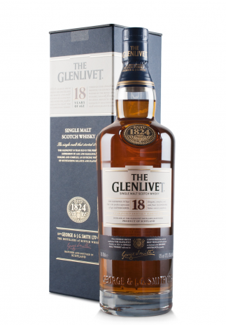 The Glenlivet 18 ani, Single Malt Scotch Whisky (0.7L)