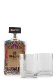 Lichior Amaretto Disaronno, Limited Edition by Etro + 2 pahare (0.7L)