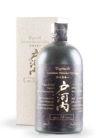 Whisky Togouchi, Japanese Blended Whisky, Aged 18 years + GB (0.7L)