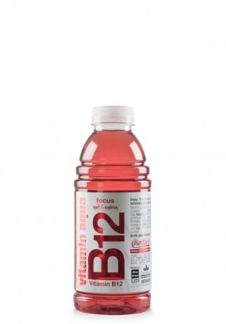 Aqua Vitam!n Vitamina B12, Focus cu gust de mar si zmeura (Bax 6 st x 600ml) Image