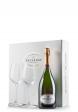 Set cadou Şampanie Besserat de Bellefon, Blanc de Noirs, Brut (0.75L) + Cutie cadou cu 2 pahare Riedel