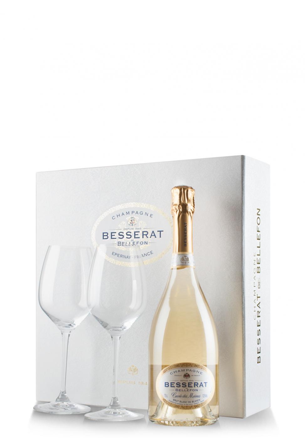 Giftset champagne besserat de bellefon for Belle jardin blanc de blancs