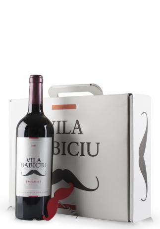 Vin Vila Babiciu Roșu, Merlot 2015 (Pachet 3 sticle + tirbușon) (3x0.75L) (3013, VIN PACHET CADOU ROSU SEC BORDEAUX FRANTA)