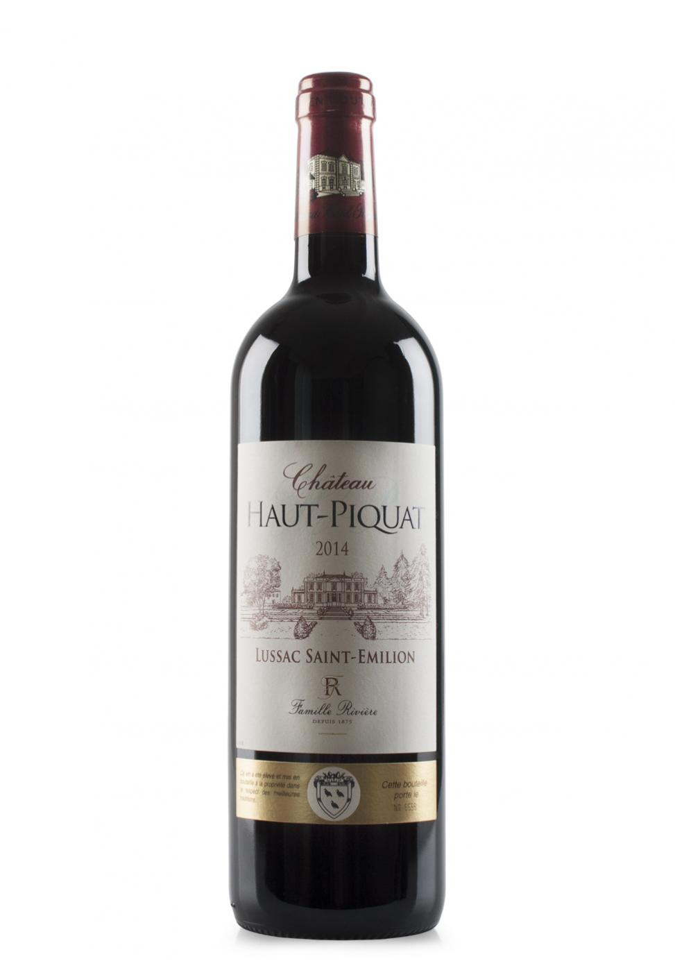 Vin Château Haut-Piquat, Lussac Saint-Emilion, 2014 (0.75L)
