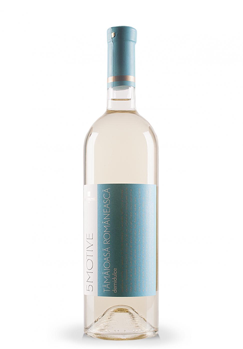 Vin Domeniile Vinju Mare, 5 Motive, Tamaioasa Romaneasca (0.75L)