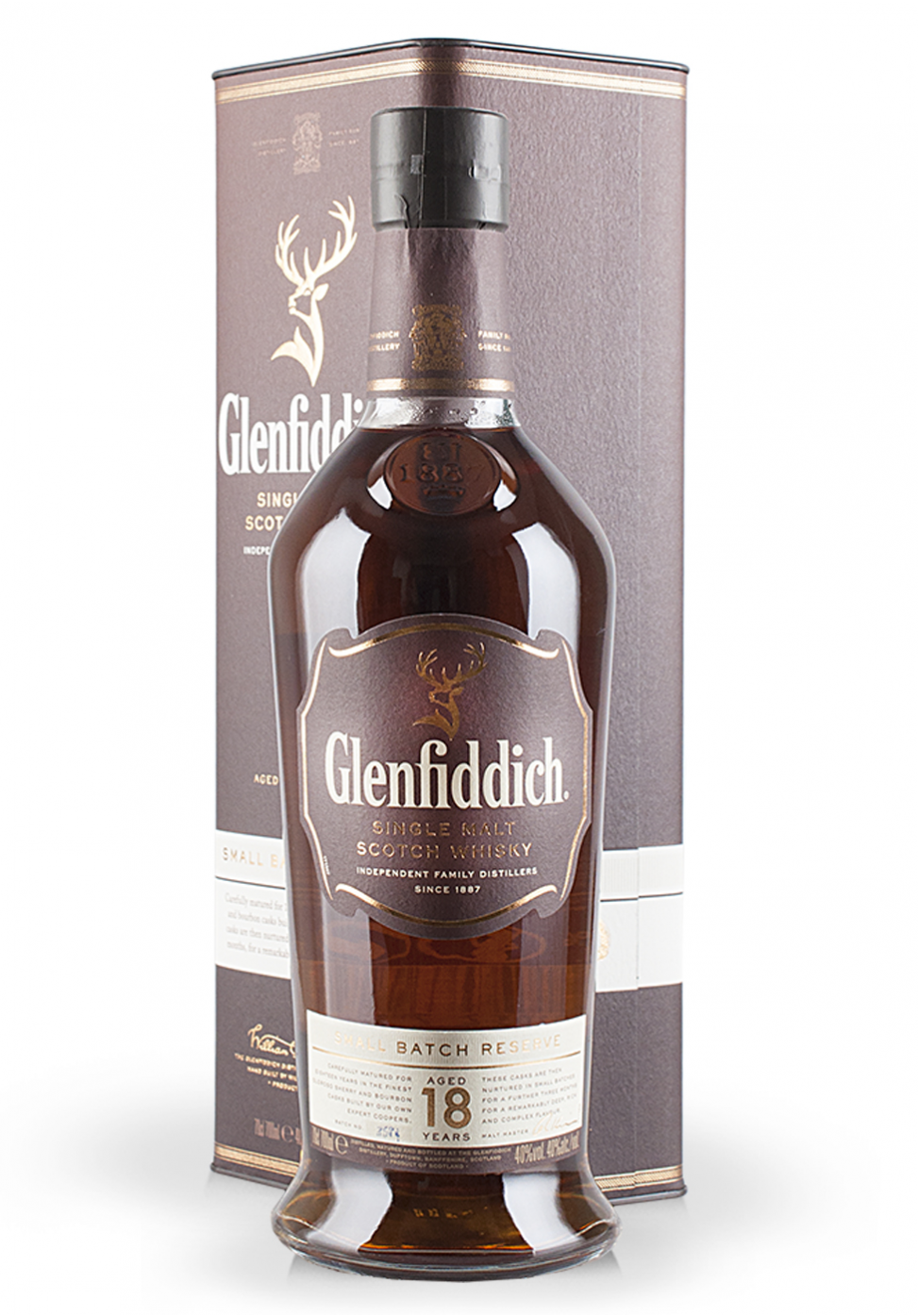Whisky Glenfiddich Aged 18 Years, Small Batch Reserve, Single Malt Scotch Whisky (0.7L)