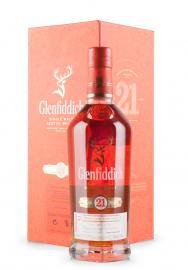 Whisky Glenfiddich Aged 21 Ani, Small Batch Reserve, Single Malt Scotch Whisky, Reserva Rum Cask Finish (0.7L)