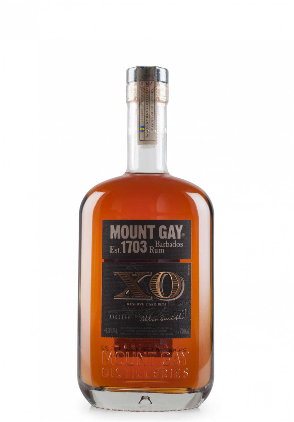 Rom Mount Gay Rum XO, Island of Barbados (0.7L)
