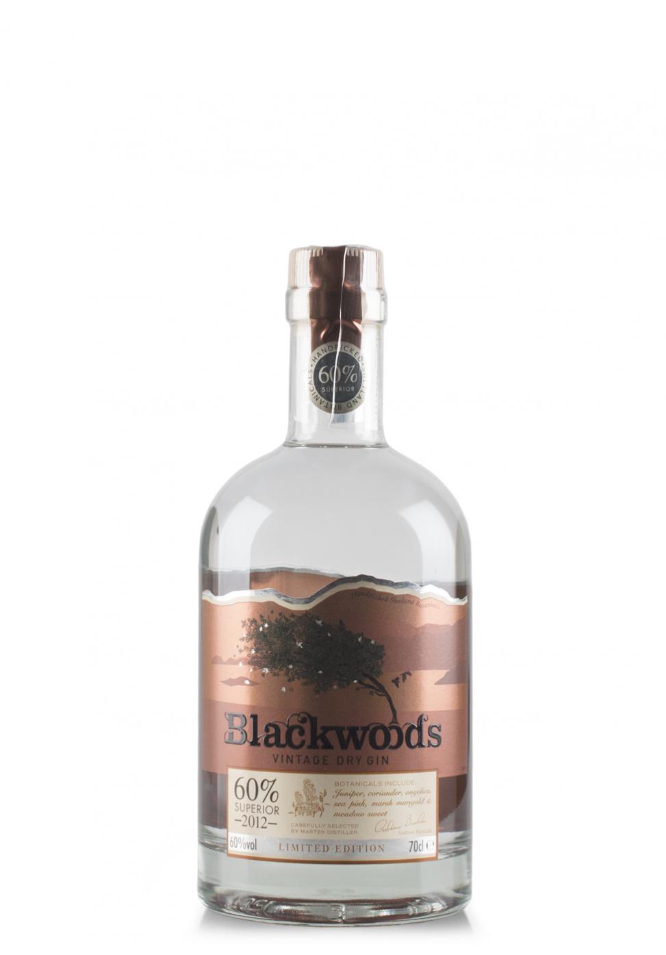 Gin Blackwoods Vintage Dry Superior 2012, Limited Edition (0.7L)
