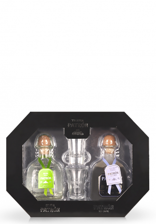 Set cadou Tequila Patron Duo: Tequila Silver si XO Cafe (2 x 0.35L) Image