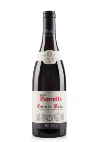 Vin Esprit Barville Rosu, A.O.C. Côtes du Rhône, 2014 (075L)