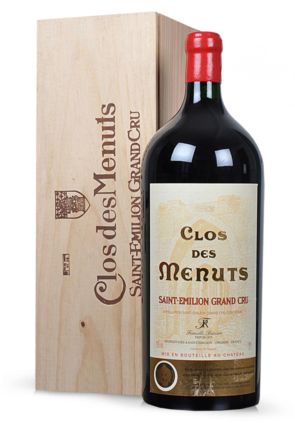 Vin Clos de Menuts, Saint-Emilion Grand Cru, 2010 (3L)