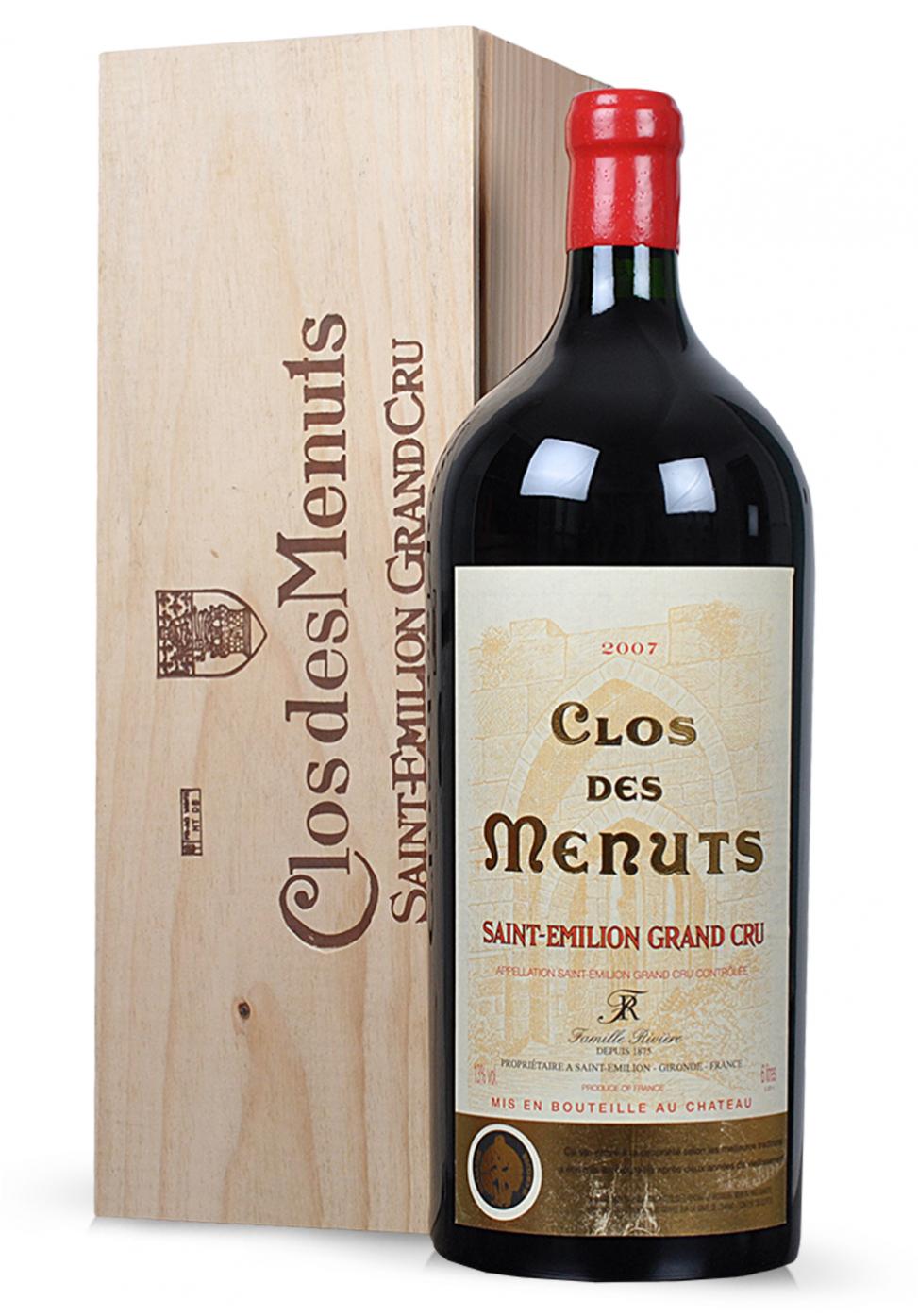 Vin Clos de Menuts, Saint-Emilion Grand Cru 2007 (6L)