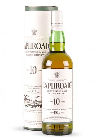 Whisky Laphroaig, Islay Single Malt Scotch 10 ani (0.7L)