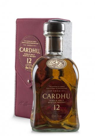 Whisky Cardhu, Single Malt 12 ani + Cutie cadou din piele (0.7L)