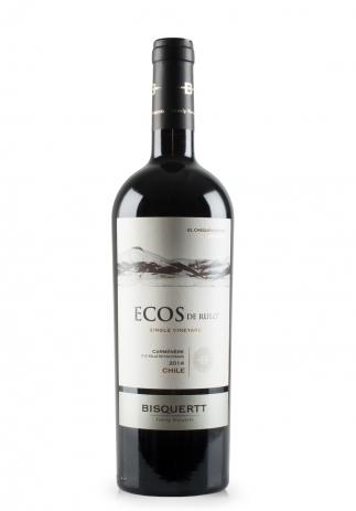 Vin Bisquertt, Ecos de Rulo, Single Vineyard, Carmenere 2014 (0.75L) (2781, VIN ROSU SEC VALLE DE COLCHAGUA CHILE)