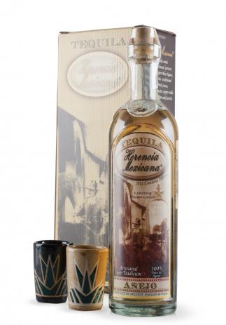 Set Tequila Herencia Mexicana Anejo + 2 pahare de ceramica, Ediție limitată (0.7L) Image