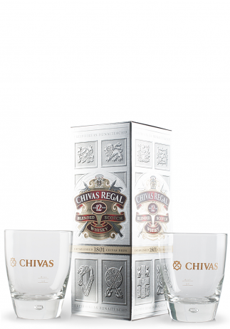 Set cadou (Whisky Chivas Regal 12 ani, Blended Scotch Whisky (0.7L) + 2 pahare)