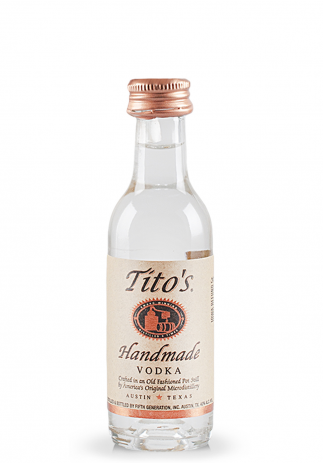 Vodka Tito's handmade, Crafted in an old fashioned pot still (0.05L) (3070, VODKA PORUMB SUA)