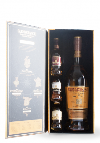 Whisky Glenmorangie Single Malt, Discovery Pack + GB (750+3x50ml) (2934, SINGLE MALT SCOTCH)