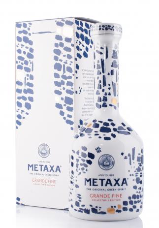 Brandy Metaxa Grand Fine Ceramic Bottle + Cutie Cadou (0.7L) Image