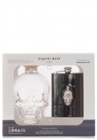 Vodka Crystal Head set flask (0.75L) (228, VODKA CRYSTAL HEAD)