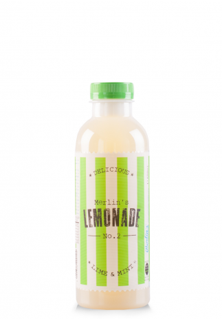 Limonada Merlin's no. 2 Lime & Mint (Bax 6 st x 600ml)