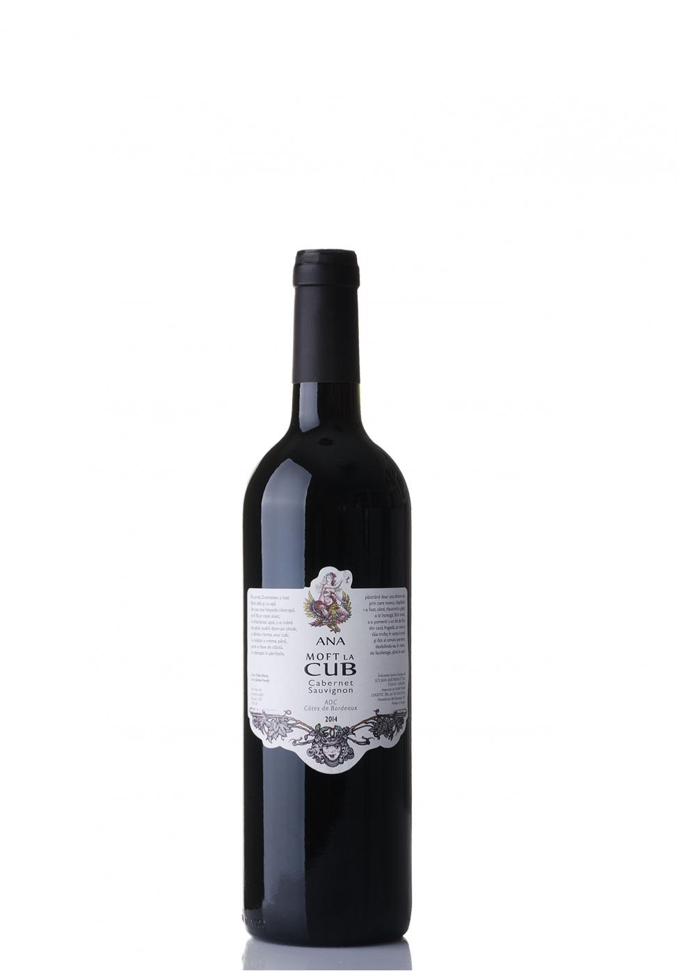 Vin Ana Moft la Cub, AOC Cotes de Bordeaux 2016 (0.75L)
